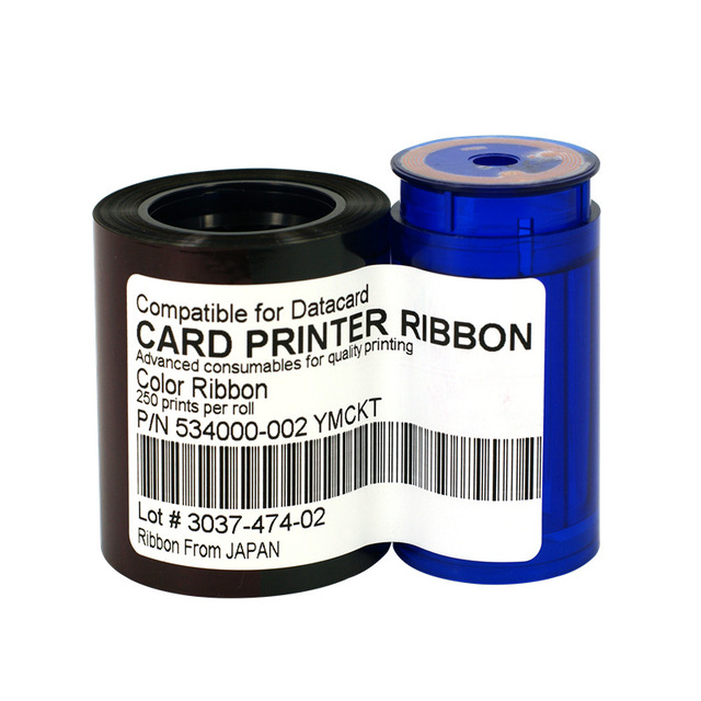 compatible 534000-002 ribbon YMCKT 250 Images for Datacard card printer SP25 SP35 SP55 SP75