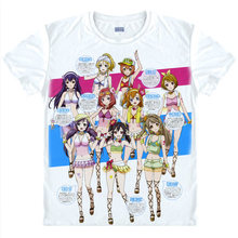love live T-Shirt Eli Ayase Shirt fashion t-shirts men anime cosplay costume kawaii style T Shirt japanese white Anime Cosplay a