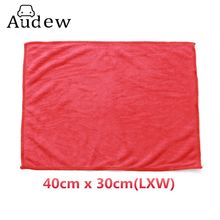 Auto Care Soft Red Practical Microfiber Cleaning Towels Car Wash Clean Cloths 30cmx40cm