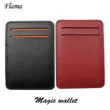 Hot sale New arrival high quality PU leather men magic wallets Korea fashion mini purses 10.5CM*7.3CM*1CM Model: XF144