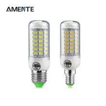 1Pcs E27 E14 Led Bulb lamp Replace Fluorescent Light SMD 5730 24/36/48/56/69/72 LEDs Spotlight 220V for LED Chandelier light