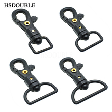 Plastic Swivel Snap Hook For Weave Paracord Lanyard Buckles Backpack Straps Webbing Black