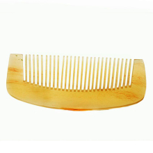 2017 Good quality Natural Amber Ox Horn Comb of Hair No Static Health Care Hair Brush Hairdressing Comb Beauty Essentials Makeup(China)