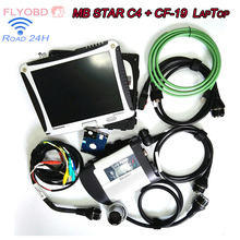 2017-03V SSD DAS Xentry For MB SD Connect 4 MB  Star Diagnosis Star C4 Multiplexer Diagnostic Tool + CF-19 Toughbook 4GB RAM