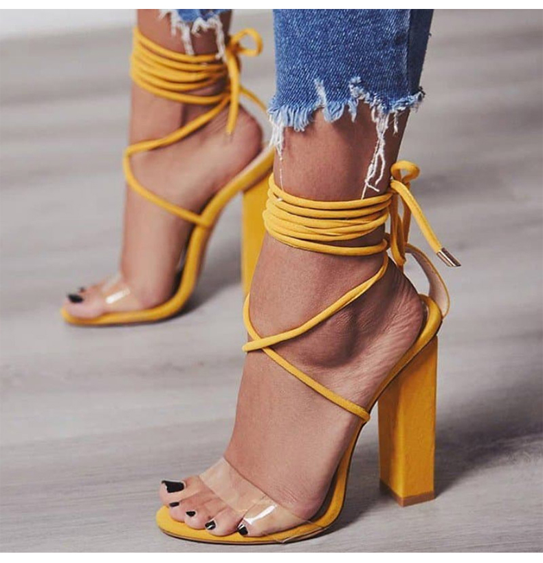 Women Pumps 2018 Summer High Heels Sandals PVC Transparent Women Heels Wedding Shoes Women Casual Waterproof Sandalia Feminina 3