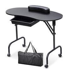 Portable Manicure Nail Table With Bag Equipment For Nail Station Desk Spa Beauty Salon Equipment Black White Foldable Nail Table(China)