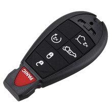 6 Button Remote Smart Key Shell + Blank Blade For Chrysler Jeep Dodge Grand Caravan Durango Charger Journey Key Case Fob Cover