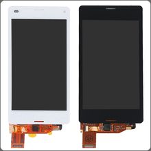 "4.3"" White Black For Sony Xperia Z3 Mini Compact D5803 D5833 LCD Display Touch Screen Digitizer Assembly Free Shipping+Track No"