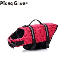 Pet Dog Life Jacket Safety Clothes Pink Bone Dot Pet Life Vest Saver Swimming Preserver Swimwear Large Dog Life Jacket