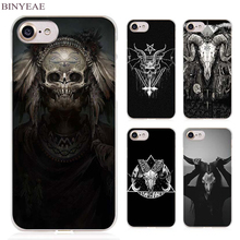 BINYEAE Satanic Skull terror design Clear Cell Phone Case Cover for Apple iPhone 4 4s 5 5s SE 5c 6 6s 7 7s Plus(China)