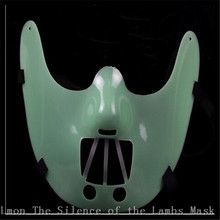 New Adults size The theme of the film --The Silence of the Lambs --Steel teeth Hannibal lecter PVC mask in stock free shipping