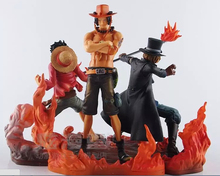 One Piece Figure Ace Luffy Sabo DXF 150mm Anime One Piece Pvc Figures Toys Japanese Anime One Piece Action Figure Juguetes