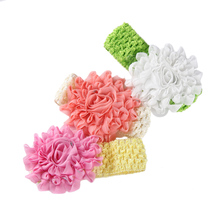 girl hair accessories fashion headbands with flowers  headband kids elastic hair bands girls hair decorations