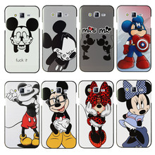 Cute Mickey Minnie Hard PC Case Cover For Samsung Galaxy J1 J5 J7 2016 2015 S3 S4 S5 Mini S6 S7 Edge Cover Protective Back Case