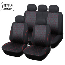 MUNIUREN Hot Sales Soccer Ball Style Car Seat Cover for Men Jacquard Fabric Universal SUV Truck Seat Covers Accessories - Black