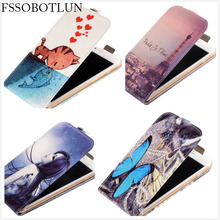 For Vertex Impress U Too/Orion/Hero/Eagle/Omega Vertical Case Fashion Printed Butterfly Flip PU Leather Phone Protective Case