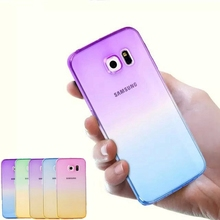 Gradual Change Gradient Color Soft Back Case Rubber Cover For Samsung Galaxy note3 4 5 s4 s5 s6 s7 a3 a5 a7 j3 j5 j7 g530