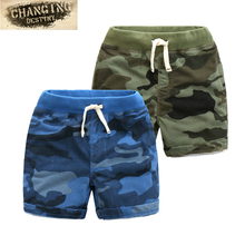 2-7 Years Old Children's Shorts Summer New Children Clothing Boys Camouflage Knitted Denim Shorts Beach Pants