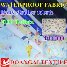 100cm*150cm Green printing Flat screen and round screen printing  Waterproof  210T Polyester Taffeta fabric