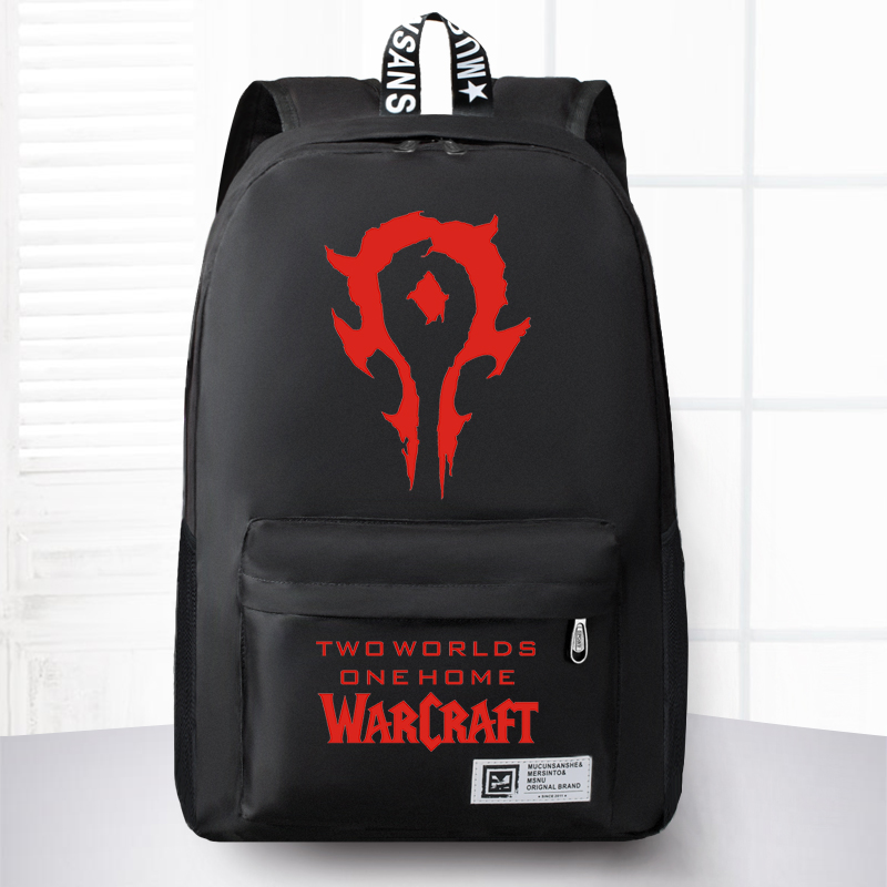 New Fashion World Of Warcraft Canvas Backpack Boy Girl School Bags For Teenagers Men Women WOW Game Laptop Backpack Travel Bag<br>