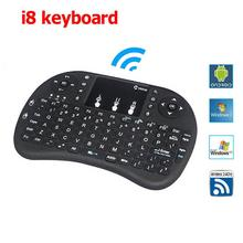 Mini i8 Russian Wireless Keyboard Touchpad Normal i8 English keyboard 2 versions For Android TV BOX Air Mouse PS3 PC(China)