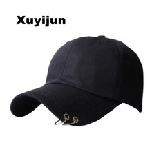 Xuyijun 2017 Unisex Embroidery Youth Letter Baseball Cap Man and woman Snapback Hip Hop Flat Hat Black White Hot Pink dad cap