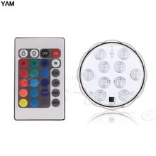 New Waterproof LED RGB Submersible Light Wedding Party Vase Lamp +Remote Control