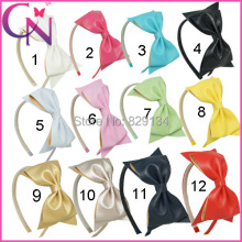 Solid Leather Hairband 12pcs/lot Children Handmade Leather Hair Band For Baby Girls Kids Hair Accessories  ZH12-14121001