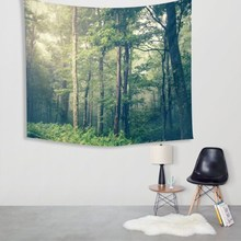 Tapestry 150X130cm Polyester Forest Wall Hanging Throw Mat Bedspread Blanket Rug Home Bedroom Rug Decor Yoga Mat Picnic Cloth