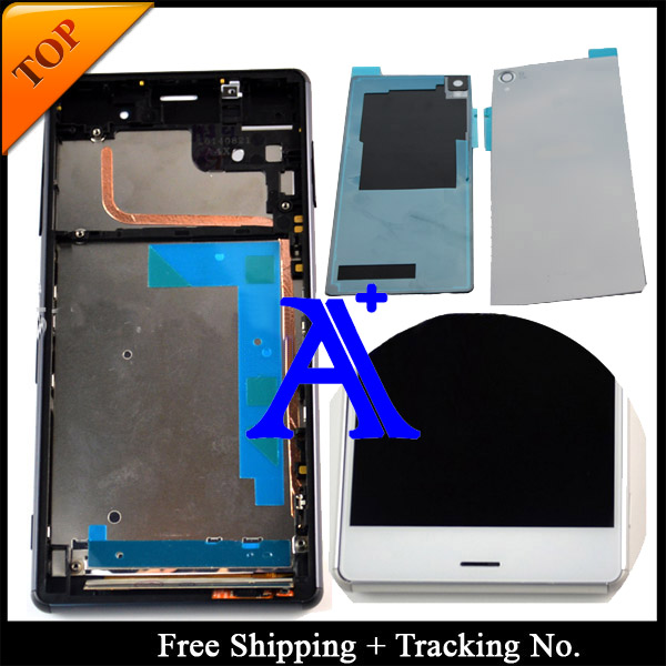 Free shipping 100%Tested For Sony Xperia Z3 LCD D6603 Display Touch Screen Digitizer Assembly with frame +Back Cover - 5.2 inch<br><br>Aliexpress