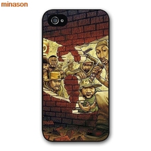 minason Wu Tang Clan Music Band Logo Cover case for iphone 4 4s 5 5s 5c 6 6s 7 8 plus samsung galaxy S5 S6 Note 2 3 H2051(China)
