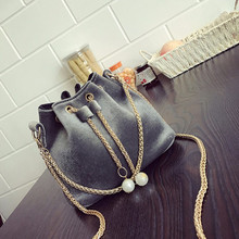Women Fashion Solid Handbag Drawstring Shoulder Bag Tote Ladies Purse famous designer brand bags women leather handbags