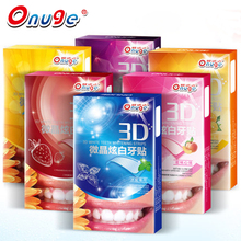 Onuge 14PCS 3D White Teeth Whitening Gel Strips Mild Formula White Tooth Paste Dental Oral Care Healthy Product Teeth Whitening(China)