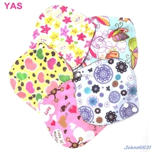6*6 Inch Menstrual Pads Reusable Washable Bamboo Cloth Sanitary Maternity New -Y207 Drop Shipping