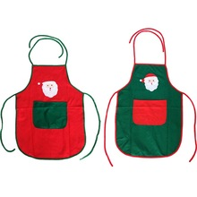 Christmas Pattern Non-woven Fabric Apron Woman Adult Bibs Home Cooking Baking Coffee Shop Cleaning Apron Kitchen Accessory 46098