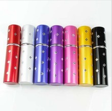 12pc/lot 2016 New Mini Refillable Crystal Perfume Atomizer Bottle Travel Spray Scent Pump Case Drop shipping &Free shipping XS02