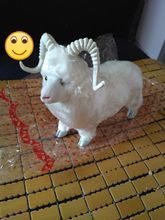 20x16cm sheep white goat toy polyethylene & furs handicraft home Decoration Christmas gift k0439(China)