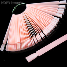 False Nail Tips Color Card Manicure Nail Art Practice Slice Board Pink Clear White Buckle Ring DIY Nail Display Tools(China)