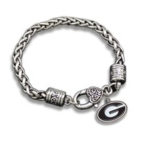 2017 New Alloy Bangle NCAA Georgia Bulldogs Enamel Team Bracelet For Men Jewelry