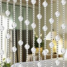 Decorative Imitated Crystals Beads String Curtain Window Wall Decor DIY for Wedding Party  Backdrop Household
