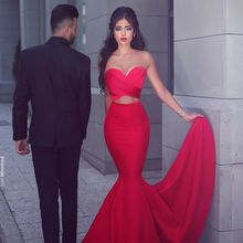 Cheap Sexy Red Mermaid Evening Dresses Sweetheart Custom Made Long Party  Gowns Formal Dresses abendkleider( cf7af8a35bbc