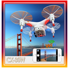 Cheerson CX-30w FPV RC Drone Quadcopter Helicopter UFO with 0.3MP HD Camera for iPhone Control WiFi Real Time Video Drones Gift