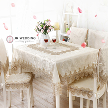 Jacquard  Fabric With Lace  Table/Cabinet/Bedstand /Refrigeratory /Washing  Machine /Table Cloth  Linen Runner