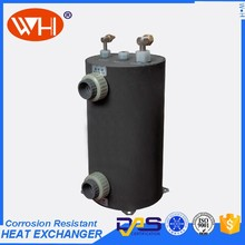 Free shipping 1.0HP Shell Tubes heat exchanger , titanium heat exchanger coils for swimming pool (WHC-1.0DRL )