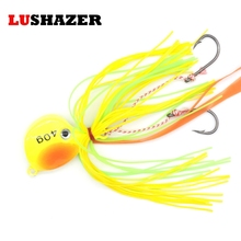 LUSHAZER Fishing jig lead head hook 40g lure metal stainless steel fishing equipment wholesale isca artificial bait accessories(China)