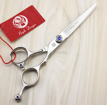 Professional JP440C 6.0Inch Cutting Scissors Human Hair Shears with Blue Diamond on Handle for Salon Barbers 1Pcs LZS0676(China)