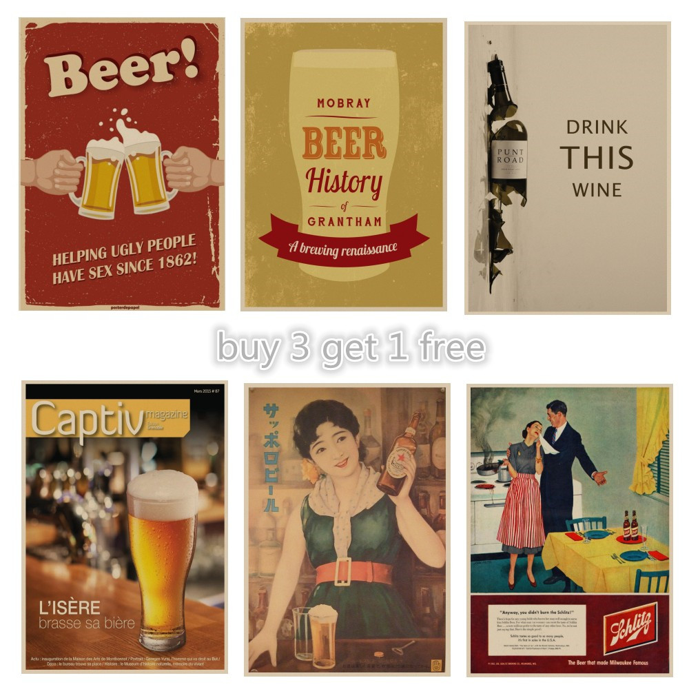 A3//A4 SIZE BEERS VINTAGE ART PRINT POSTER  # 34