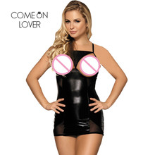 Buy Comeonlover Porn Sexy Lingerie Hot Open Cup Crotchless Sexy Chemise Lingerie Sleepwear RI70338 Plus Size Leather Lingerie Dress