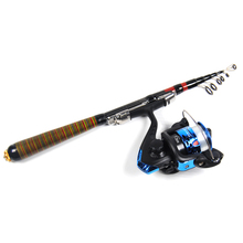 Multiple Purpose Fishing Rod & Reel Combo Set for Travel Leisure Pond Ice Fishing 1.2m 1.8m 2.1m 2.4m 2.7m 3m Light Duty Panfish(China)