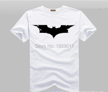 100% Cotton Knight of Darkness Batman Logo T Shirts Men O Neck Short Sleeve Cotton Mens T-Shirt Man tshirt Tops(China)